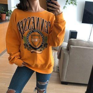 Tennessee College Off Shoulder Vintage Sweatshirt